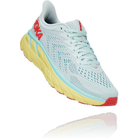 Hoka One One Clifton 7 Scarpe da corsa Donna, morning mist/hot coral